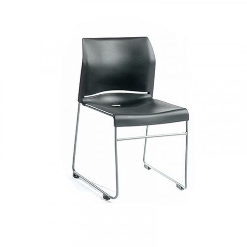 Kvadrat stol, sort