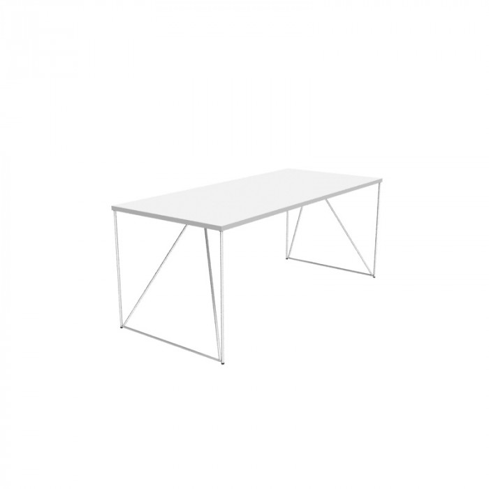 Air skrivebord hvit/hvit