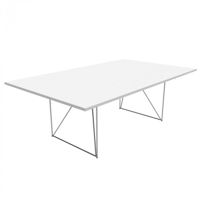 Air møtebord hvit/sølv