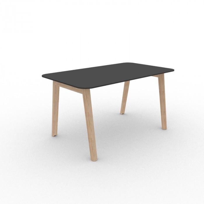 Nova Wood Edge skrivebord sort