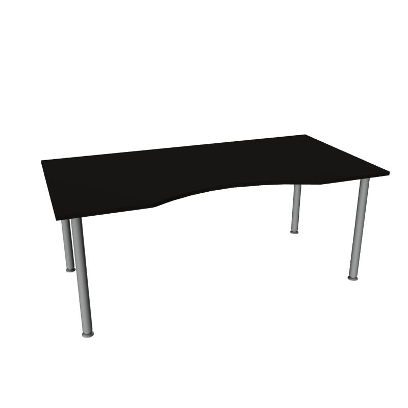 Skrivebord med magebue og fast høyde Allkontor.no